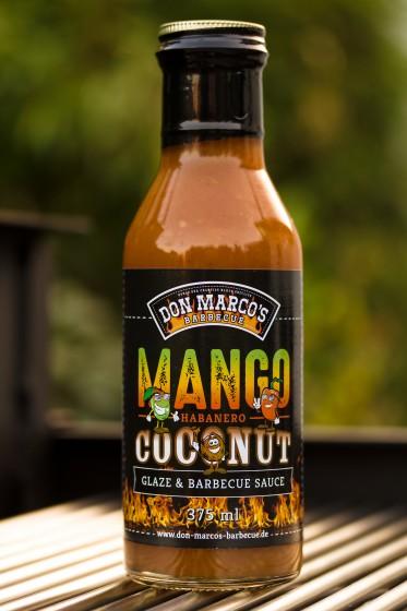 Mango, Habanero, Coconut Glaze & BBQ Sauce, 375ml