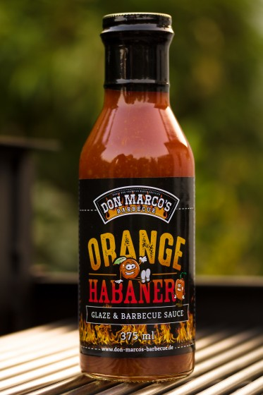 Orange, Habanero Glaze & BBQ Sauce, 375ml