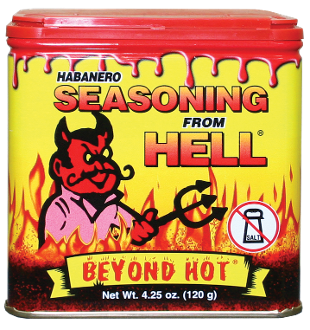 Habanero Seasoning From Hell, 120g