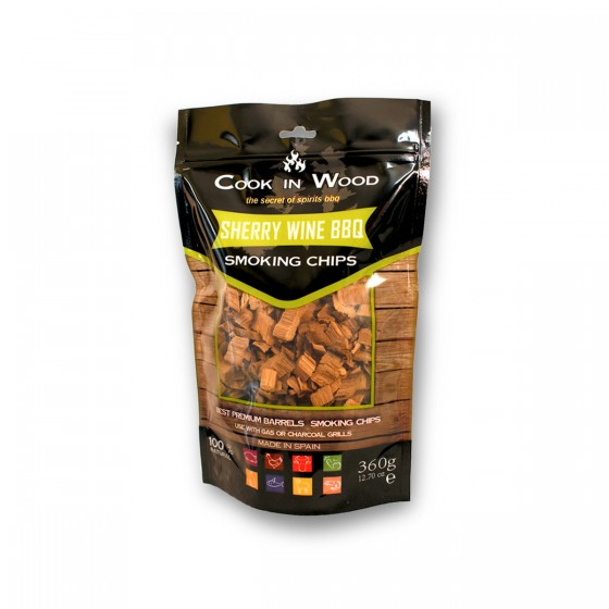 Sherry Wine BBQ Smoking Chips, 360g