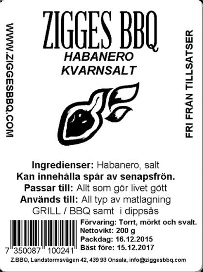 Habanero Kvarnsalt, 200g