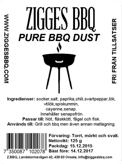 Pure BBQ Dust, 125gr