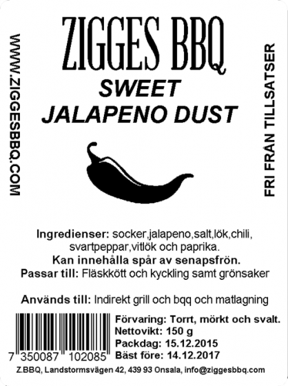 Sweet Jalapeno Dust, 125gr