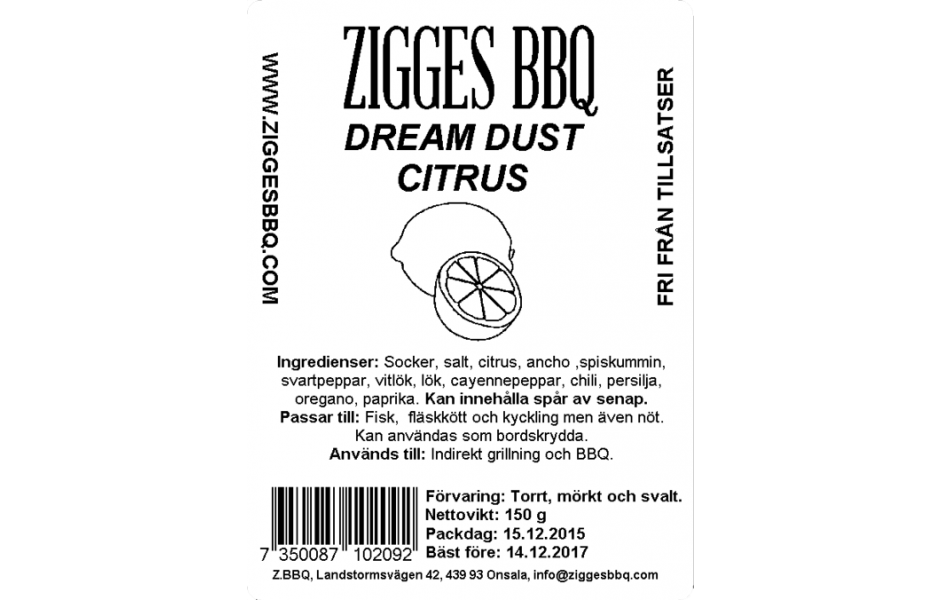 Dream Dust Citrus, 150gr