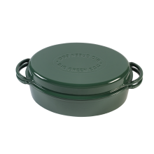 Green Dutch Oven, Oval 35cm