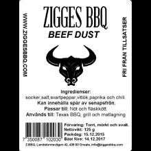 Beef dust, 125gr