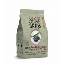 3x Kalamata Olive Briqs briketter 3kg