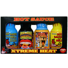 Travel Size Xtreme Hot Sauce 4 Pack