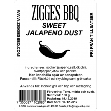 Sweet Jalapeno Dust, 150gr