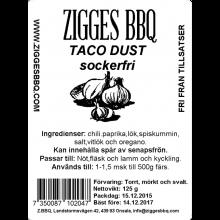 Taco dust, 125gr