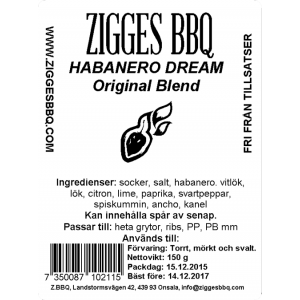 Habanero Dream - Original Blend, 150gr