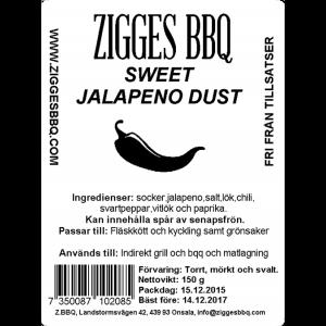 Sweet Jalapeno Dust, 150gr